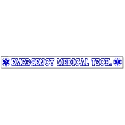 Inside Window Cling Sticker Emergency Medical Tech