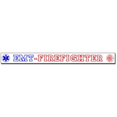 Inside Window Cling Sticker EMT Firefighter