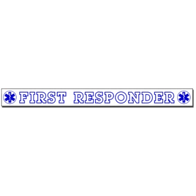 Inside Window Cling Sticker First Responder