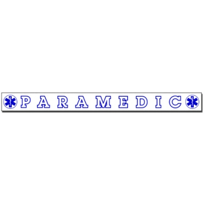 Inside Window Cling Sticker Paramedic
