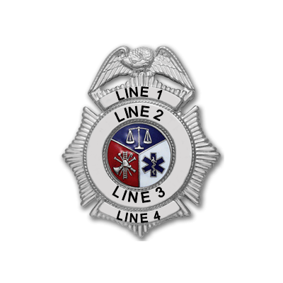 Custom Fire Rescue Badge Police Security