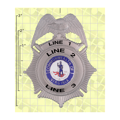 Quick Ship 2 Weeks Custom Fire Rescue Police Security Badge 1