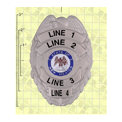 Quick Ship 2 Weeks Custom Fire Rescue Police Security Badge 2