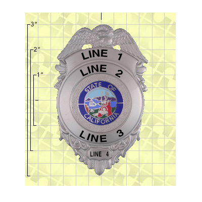 Quick Ship 2 Weeks Custom Fire Rescue Police Security Badge 4