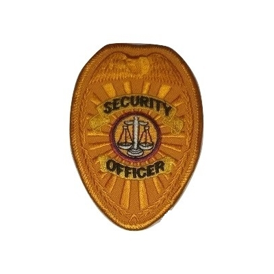 Oval Patch - Chest Badge Security Officer Gold