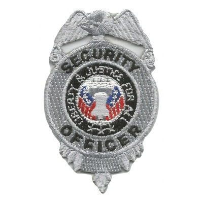Chest Badge Security Officer Shield Silver
