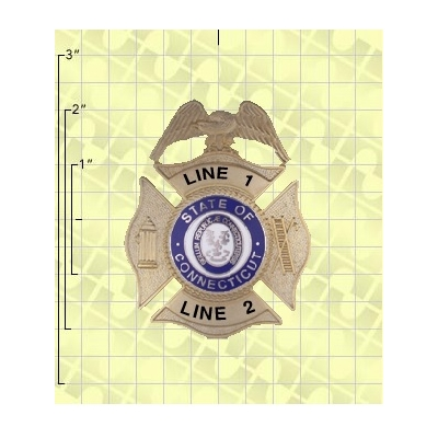 Quick Ship 2 Weeks Custom Fire Rescue Police Security Badge 10