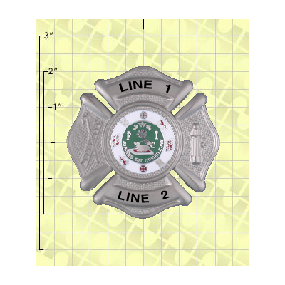 Quick Ship 2 Weeks Custom Fire Rescue Police Security Badge 12