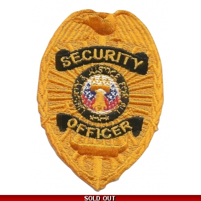 Oval Patch Badge - Security Officer Gold