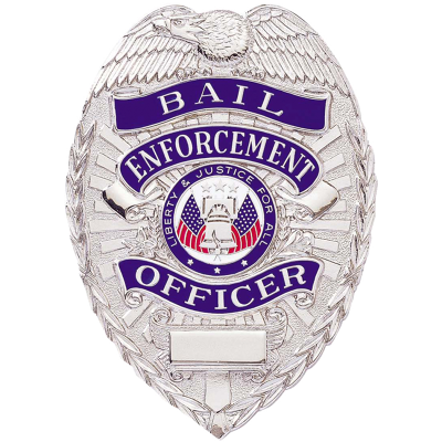 Bail Enforcement Officer Shield Badge Nickel Silver