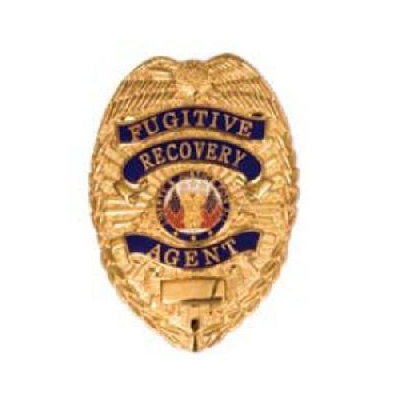 Fugitive Recovery Agent Shield Badge Gold