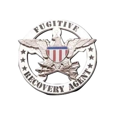 Fugitive Recovery Agent Badge Nickel Silver