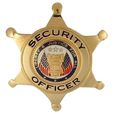 Security Officer 6-Point Star Badge Liberty & Justice Seal Gold