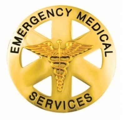 Emergency Medical Service Circle Breast Badge Gold