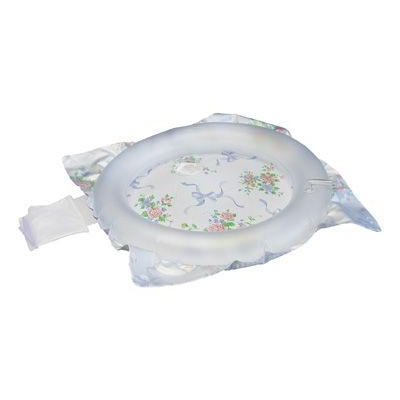 Inflatable Shampoo Basin 22.5 X 23.5 Inch Clear / Floral