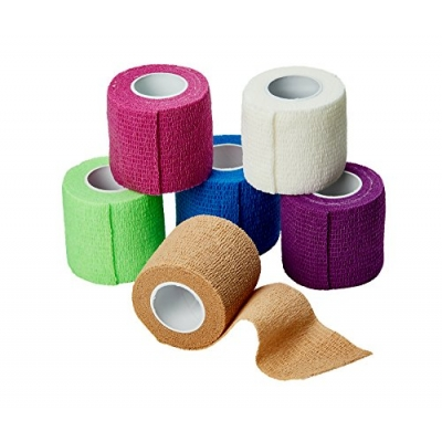 Cohesive Bandage 1 X 5 Yard Compression Self-Adherent Closure Color