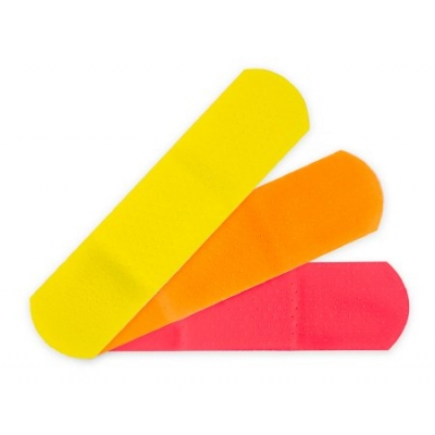 Adhesive Strip Neon Colors Kids™ 3/4 X 3 Inch Plastic Rectangle 100 pk