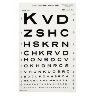 Eye Test Chart 10 Feet Snellen