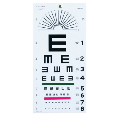Eye Test Chart 20 Feet Falling E
