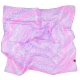 Pink and Lavender Square Silk Scarf L