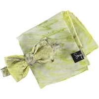 Yellow and Grey Double Silk Bow T..