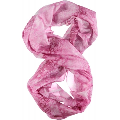 Pink Silk Infinity Scarf