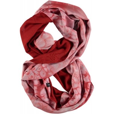 Brick Red Double Layer Silk Infinity Scarf