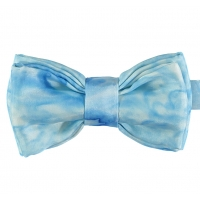Light Blue Double Silk Bow Tie