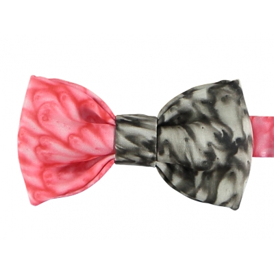 Red and Black Silk Bow Tie