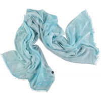 Light Aqua Silk Shawl