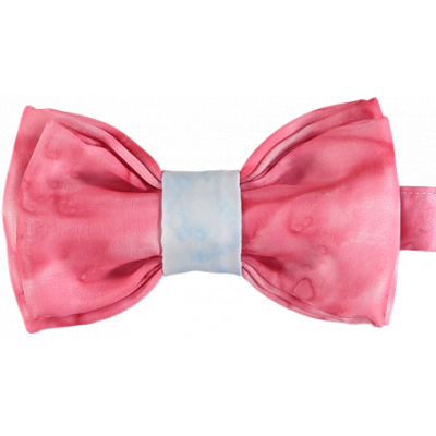 Red and Blue Double Silk Bow Tie