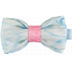 Blue and Red Double Silk Bow Tie