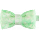 Neon Green Double Silk Bow Tie