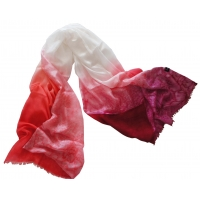 Pink, Red and White Gradient Silk..