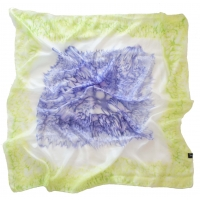 Royal Blue and Lime Square Silk S..