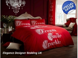 DREAM SMILE SPARKLE RED KINGSIZE DUVET SET