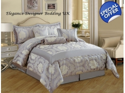 BETTY JACQUARD BUMPER 7 PIECE BEDSPREAD