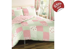 PATCHWORK PINK SINGLE BEDSPREAD