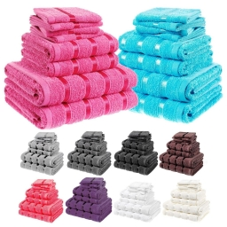 8 Piece Towel Sets