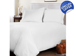 1000TC SUPERKING DUVET COVER & FITTED SHEET SET ..