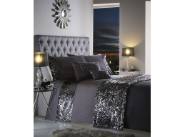 DAZZLE CHARCOAL DOUBLE DUVET SET