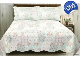 HEIRLOOM HUDSON KINGSIZE BEDSPREAD & PILLOWSHAMS