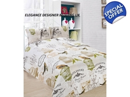 SINGLE VINTAGE BIRDCAGE DUVET SET