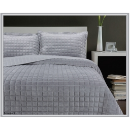 BEAUMONT SILVER BEDSPREAD