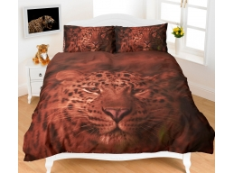 3D BROWN LEOPARD DOUBLE