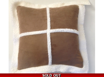 SHEEPSKIN FAUX CUSHION