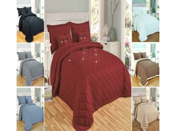 DIAMOND 5 PIECE BEDSPREAD SET