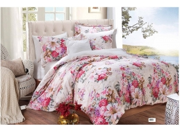 PINK FLORAL 300TC 100% EGYPTIAN COTTON COMPLETE SET