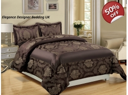 BETTY CHOCOLATE KINGSIZE BEDSPREAD