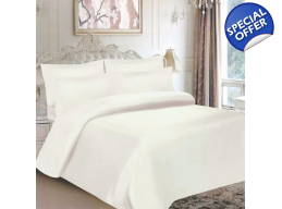 6pc MICROFIBRE CREAM DUVET SET